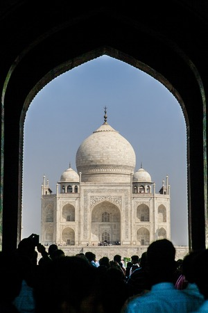 taj mahal the most famous landmark of india photo