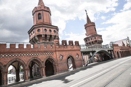 u bahn: details of buildings and monuments in Berlin Stock Photo