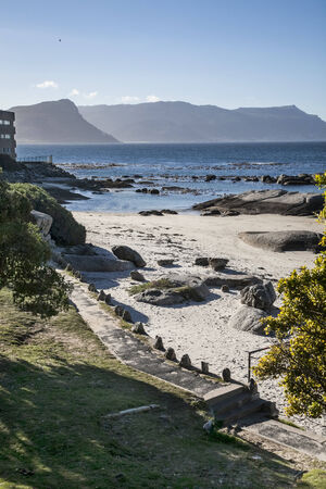 view of the coast of cape town  photo