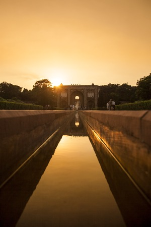 monument in india: humayun tomb famous monument in india Stock Photo