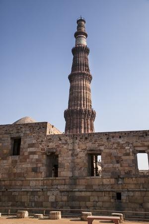 minar: The qutub minar complex delhi in india