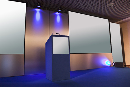 conference room with chairs and big screen Standard-Bild