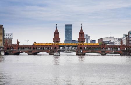 u bahn: bridge over the river in the center of berlin