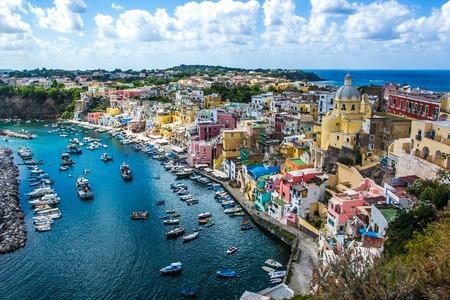 Procida beautiful island in the Tyrrhenian Sea in Italy