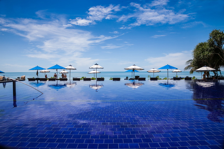 thailand beautiful infinity pool in a resort