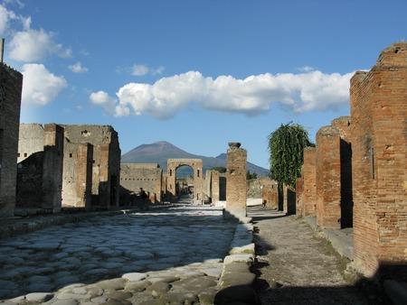 architectonic: excavations of Pompeii architectonic particulars of roman ruins