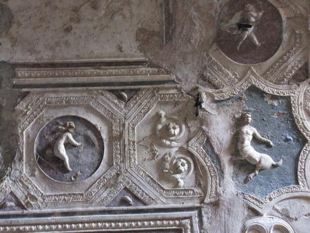 architectonic: opgravingen van Pompeii architectonische bijzonderheden van Romeinse ruïnes