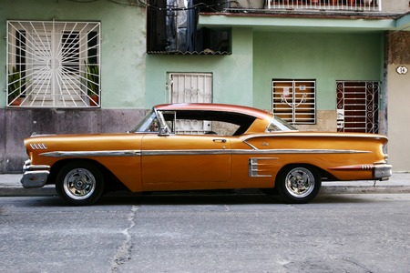 the traditional car wintage in Havana cuba