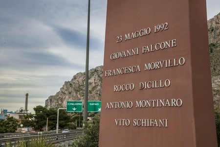 memorial of the victims of the massacre able Sicily