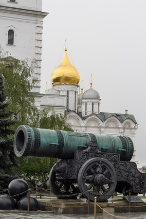cannon weapon historic Russian landamark in moscow