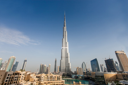 the Burj Khalifa in Dubai  view panoramic