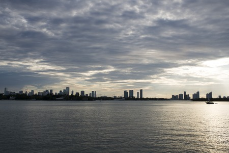 beautiful cityscape miami, florida coast USA photo