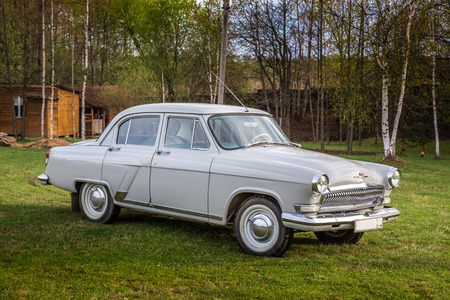 The Volga GAZ M21 old vintage car the biggest and most luxurious car in the USSR in the 6039s