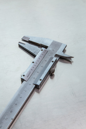 measurements: gauge steel for precision measurements Stock Photo