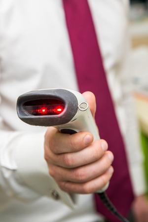warehouseman: gun optical scanner for reading bar codes