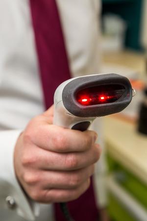 gun optical scanner for reading bar codes