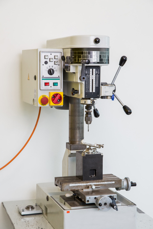 workshop drill for precision drilling, tool industry Standard-Bild