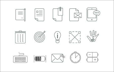 fifteen: Simple icon set fifteen icons for communication , messages ,letters also can be used in many other ways.