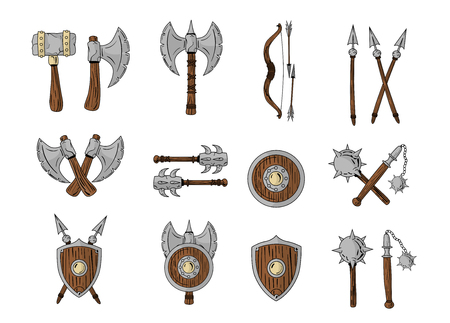 weapons: Great designed cartoon weapons. Illustration