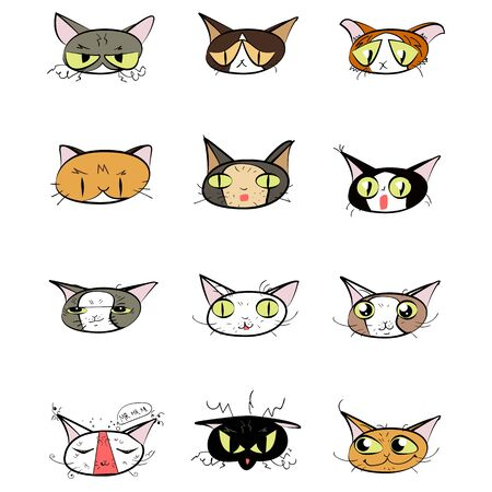calico: Great designed set of cute cartoon cats that can be used in various templates