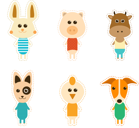 Great designed set of cute animals that can be used in various templates