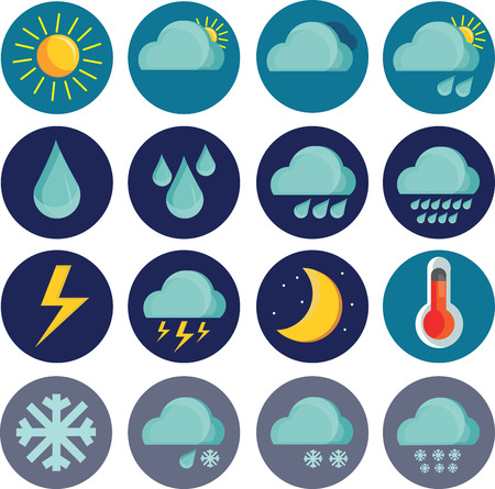 uv index: Great designed set of weather icons that can be used in various templates Illustration
