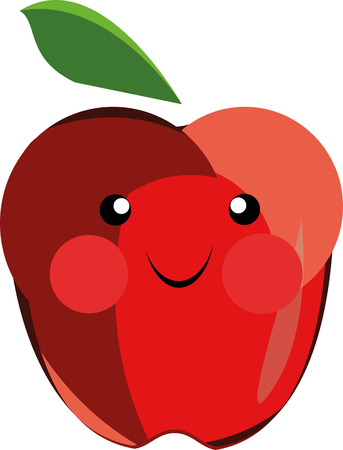 Cartoon apple that can be used in various templates Illustration