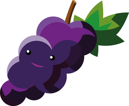 Cartoon grapes that can be used in various templates