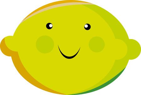 Cartoon Zitrone, die in verschiedenen Vorlagen verwendet werden können Vektorgrafik