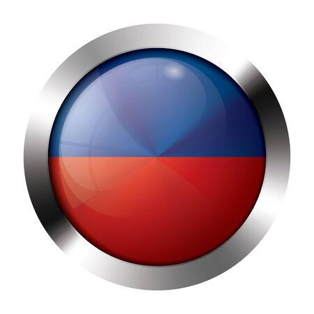 Round shiny metal button with flag of liechtenstein europe. Stock Vector - 15658882