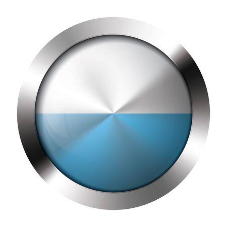 Round shiny metal button with flag of san marino europe. Illustration