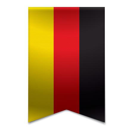 identidad cultural: Ilustraci�n vectorial realista de una bandera de la cinta con la bandera alemana Podr�a ser utilizado para fines de viaje o turismo para el pa�s Alemania en Europa Vectores