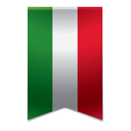 Realistic vector illustration of a ribbon banner with the hungarian flag  Could be used for travel or tourism purpose to the country hungary in europe