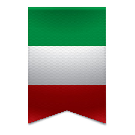 eu flag: Realistic vector illustration of a ribbon banner with the italian flag  Could be used for travel or tourism purpose to the country italy in europe