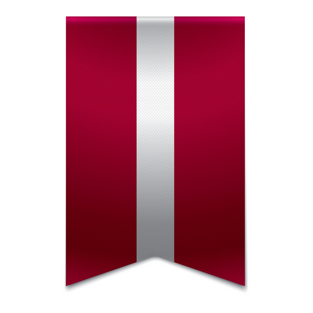 Realistic vector illustration of a ribbon banner with the latvian flag  Could be used for travel or tourism purpose to the country latvia in europe  Illustration
