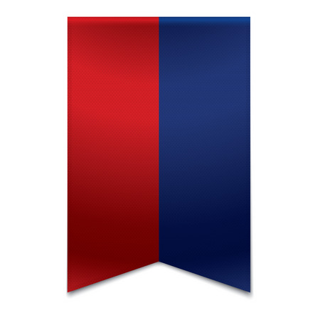 Realistic vector illustration of a ribbon banner with the flag of liechtenstein  Could be used for travel or tourism purpose to the country liechtenstein in europe