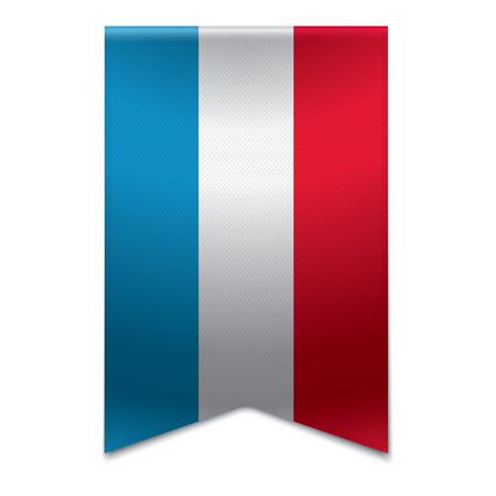 Realistic vector illustration of a ribbon banner with the flag of luxembourg  Could be used for travel or tourism purpose to the country luxembourg in europe