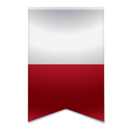 Realistic vector illustration of a ribbon banner with the maltese flag  Could be used for travel or tourism purpose to the country malta in europe