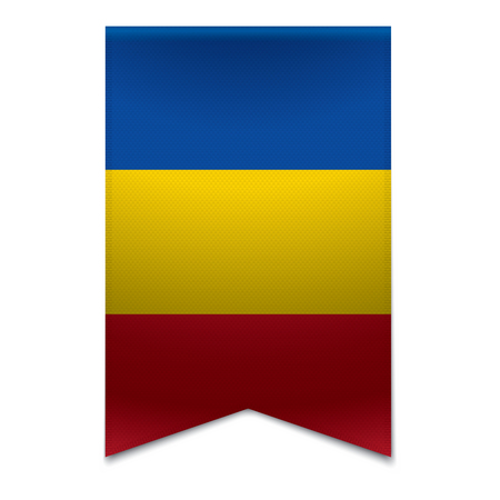 Realistic vector illustration of a ribbon banner with the moldovan flag  Could be used for travel or tourism purpose to the country moldova in europe