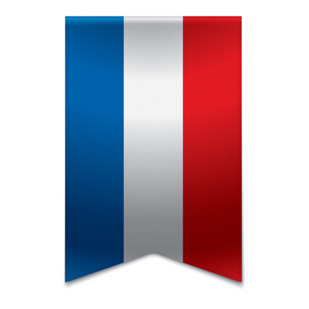 euro area: Realistic vector illustration of a ribbon banner with the dutch flag  Could be used for travel or tourism purpose to the country netherlands in europe  Illustration