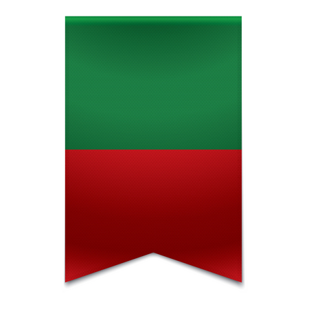 Realistic vector illustration of a ribbon banner with the portuguese flag  Could be used for travel or tourism purpose to the country portugal in europe