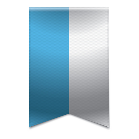 euro area: Realistic vector illustration of a ribbon banner with the flag of san marino  Could be used for travel or tourism purpose to the country san marino in europe