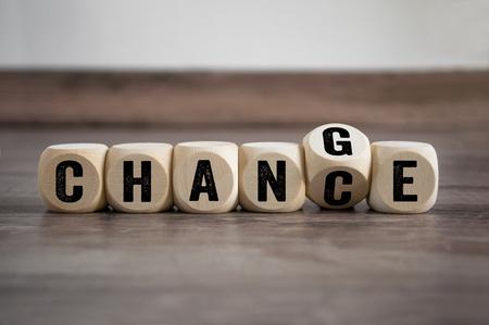 Cubes Dés avec changement change 2019 Banque d'images