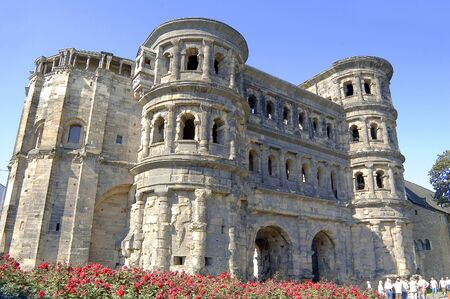 Old roman town gate in Trier Germany on public ground