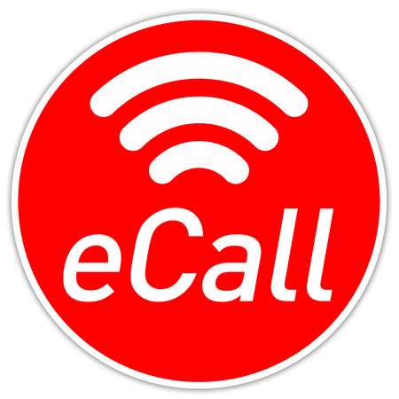 Button with E Call Emergeny Call System Imagens