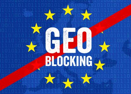 Illustration for geo-blocking Stock fotó