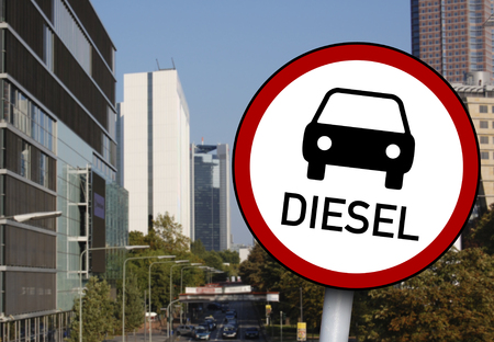 Traffic sign with diesel not allowed