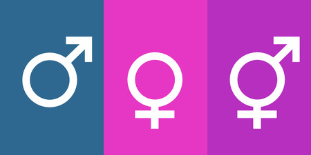Icons for man, woman and transgender