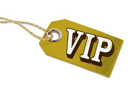 Wooden hang tag with letters VIP