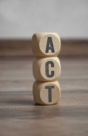 Cubes and dice with acronym ACT